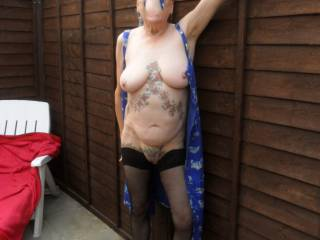 hello I am sure the elderly chap next door got a glimpse of me stripping off. going out today for a drive and taking some of my toys with me. will post the results soon comments always welcome mature couple