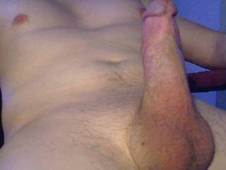 Your cock is handsome.  I'd like stroking and sucking it until you shoot cum in my mouth.