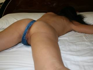 There's no better sight than walk in the room to find your wife laid satisfy on your very own bed with another man's cum leaking out of her freshly fucked pussy and ass. He left after an intense 2 hour. I felt proud when she whispered she's all mine again
