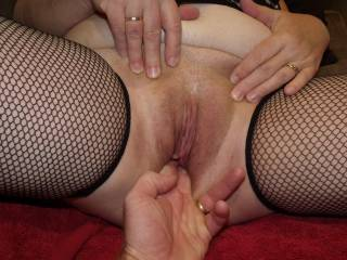Fingers in my hot hungry pussy