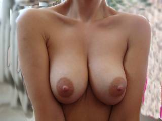 WOW, utterly perfect. love to suckle hard on those amazing nipples. throbbing like made for you right now x
