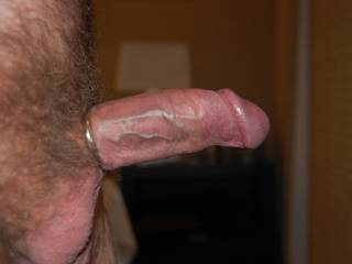 Veins starting to pop with the cock ring