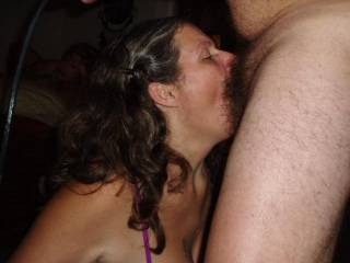 wife taking it deep into her throat