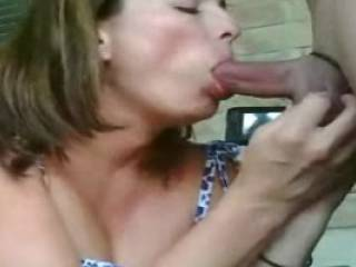 Mmmm, is she one that will suck cock anywhere?  Ooooo nice if she does.  That's a hot lady that'll do that.  G