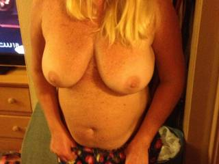 Almost there . Awesome tits aren't they?