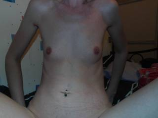 Love her little tits and that great shaven pussy
