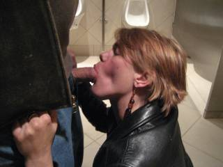 damn! why cant i find some fun with some girl like her in public toilets around here! ;-) Happy to offer you my hard cock if you never pass up a chance! :D