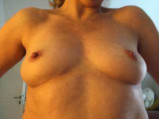 Ridding a cock and that is how I got my nipples!!! Like them?