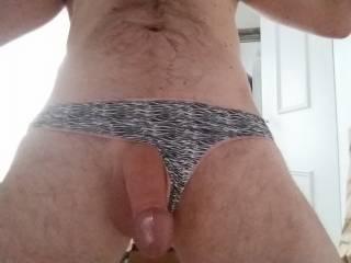 Big cock woman\'s panties bad fit but nice