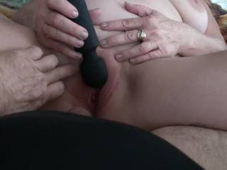 I had just got done getting boyfriend off and decided to just have a quickie with my newest Christmas toy, a small vibrating cordless wand. Wow what a great toy. Did you enjoy seeing and hearing my orgasm?