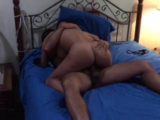 Fucking a tight mature wife's pussy , while hubby is watching .