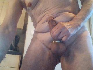 Showing off my shaved smooth cock and balls any guy fancy licking and sucking same in return and smooth ass waiting for right guy