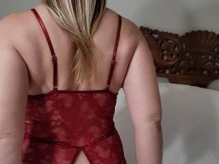 Wine red lingerie