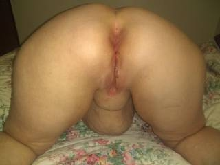 a granny with a very big ass