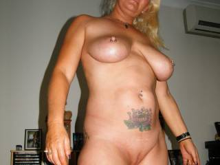 YES!  Absolutely 100% [everything] of you.  sure would love to fondle, suck, nibble your amazing tits and lick, suck, finger and fuck your marvelous puss.  It is so pretty all hairless and looking like a little girls sweet vagina and I bet just as delicious.  Love the pussy piercing jewelry also