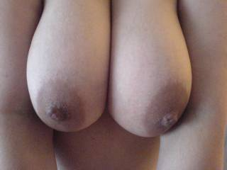 These are my hot mexican wife\'s amazing big tits! I love her nipples! Please comment and let me know what you think! Cum on my tits and let me see!