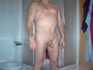 dick in bath
