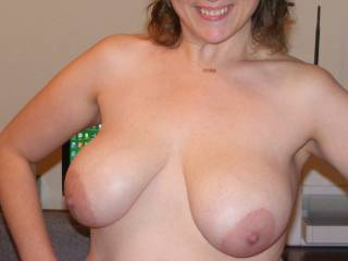 who wouldn't like them and your very sexy smile!!  I'd love to kiss,k suck and nibble on those nipples until they're long and hard.