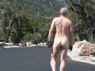 A great day on Mt. Charleston walking through a camp site.  Has anyone ever hiked nude on Mt. Charleston?  Any trails I should try?