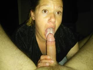 My girl sucking my cock