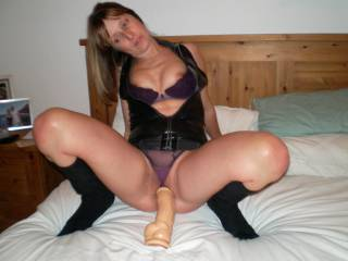 mmmmmm, my 10 inch cock about to slide in while the room watches.