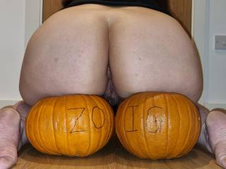 What would you rather eat this Halloween? Pumpkin or butt?