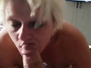 Loves to have someone watch her suck  dick ...