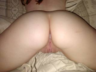 can u see my cum dripping out hehe