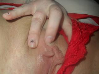 Your hot pussy makes my mouth water and my cock throb. Tasty view!