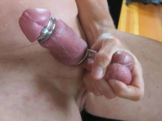 Mmmmmmmm...you are, aren't you? Very horny indeed.....loving those rings!! They feel as good as they look? xx