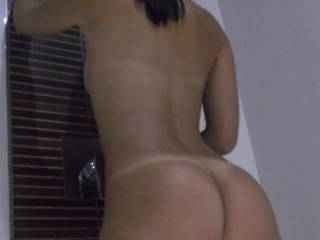 I wanna be right behind you inside that beautiful tight pussy giving that sexy ass a nice spanking ;)