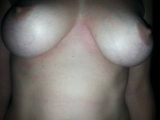 My wife's tits...