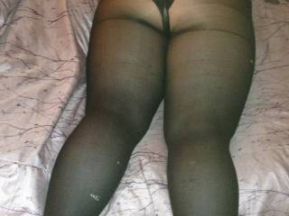 Don't bother taking your tights off i'll stick my cock straight through them into your big sexy ass
