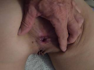 My fucked ass, its just been flogged hard and deep and its full of cum ready to be fucked again. Your cock want it?