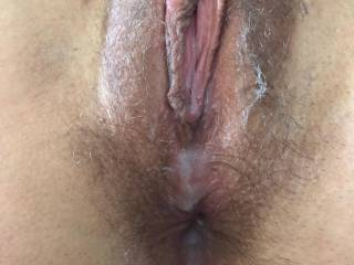 Her used pussy leaking cum