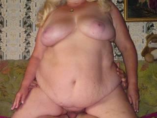 big  granny sat on my dick