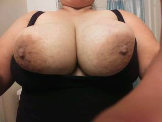 Another picture of my wife's beautiful titts