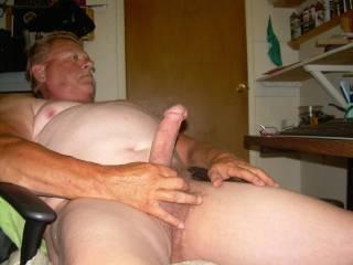Just enjoying some cock stroking fun!