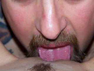 Eating his lover. Any ladies in Ct or NH that want to borrow hubbies tongue. Let us know