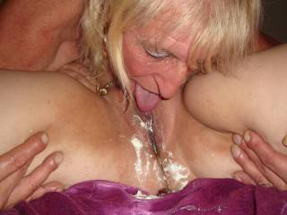 pussy and cream tastes good