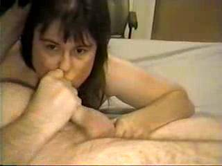 with janine playing with my balls,I cum all over her amazing face!...I love the fact that she lets me cum all over her,and SHE LOVES IT!....Do you have or want a lady like this?
