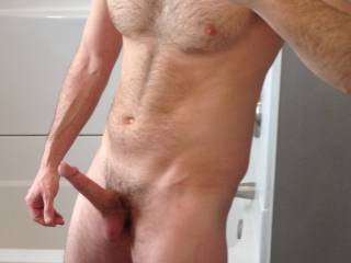 Pic 6 of bathroom remodel. The first hard cock this mirrors seen. Thinking of what the sexy ladies of zoig may say about me has got my cock hard. Hope to hear what you're thinking about while looking at this pic.