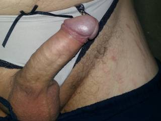 I was just sitting around the house doing laundry and I saw one of my woman\'s thongs so I decided to see how it felt, it wasn\'t too bad and I absolutely love how it may cock look