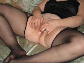 I'd love to lick her pussy until she is soaking wet.