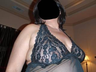 Do my tits look sexy draped in my new lingerie?