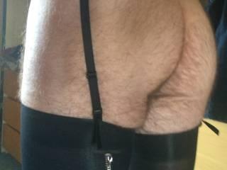 Black suspenders ans stockings
