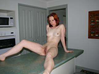 What you are serving here on the table looks good enough for me. Gorgeous body, delicious hairy pussy, mmmmm.