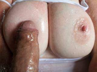 Oiled cock and big tits do you think it's good combination? Any suggestions?