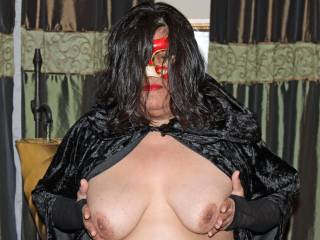Halloween tits!  Put your cock in between them and I will give you a treat!