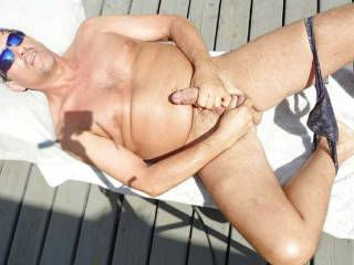 love the overhead shot of me jerking off outdoors